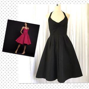 NWT J. Crew Lydia Black Halter Dress